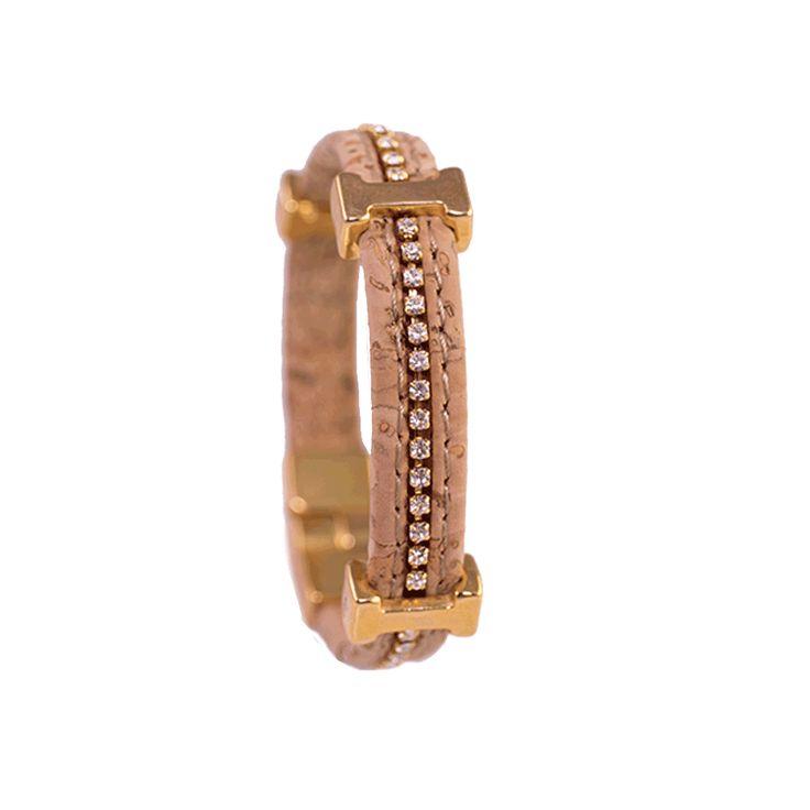 White Swarovski with Cork Bracelet !!