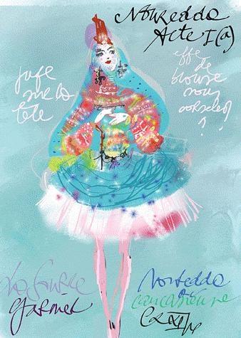 Costume for ballet: La Source, Christian Lacroix.