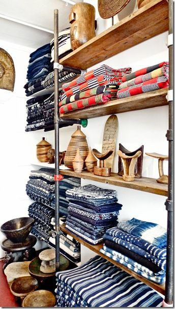 Africa | Adire African Textiles Gallery shop at Alfie's Antique Market, Marylebone, London