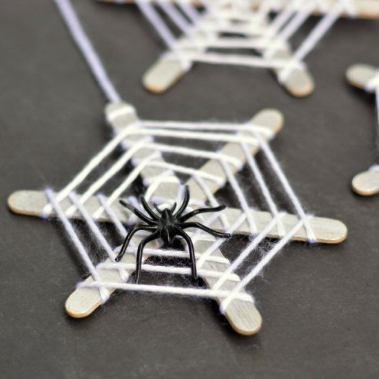 lollipop stick cobwebs mini weaving