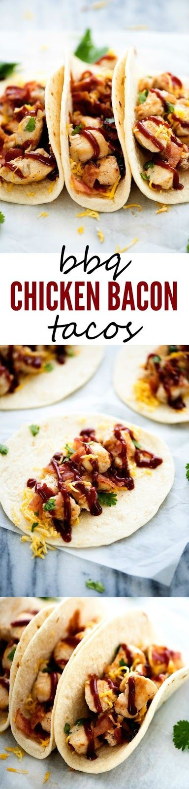 BBQ CHICKEN BACON TACOS | Food And Cake Recipes