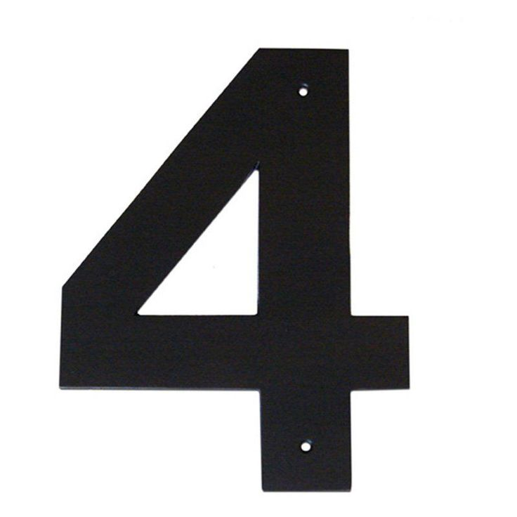 Montague Metal Products 16 In  Helvetica House Number