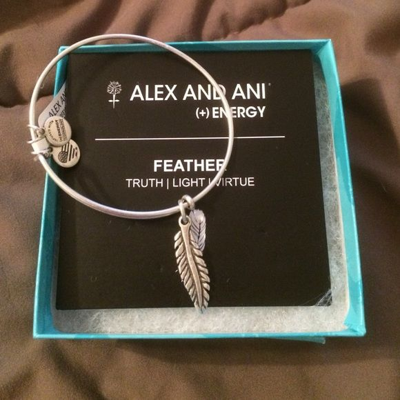 Personalized Photo Charms Compatible with Pandora Bracelets. NWT Alex and Ani bracelet Alex and Ani silver tone feather bracelet. Meaning of feather in the pics. NWT and box Alex