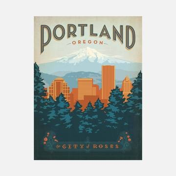 Portland, Oregon: Classic American Travel Posters by the Anderson Design Group