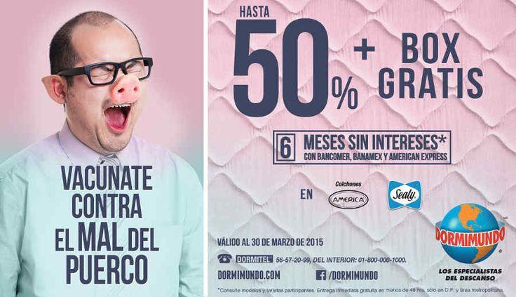 Dormimundo: Hasta 50% de descuento + box gratis en Colchones America y Sealy