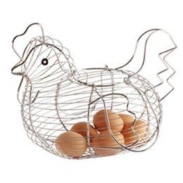 Stylish Egg Basket for picking and storage!  Will look great in your kitchen! #EggBasket Purchase from http://freehenhouseplans.weebly.com/egg-handling---egg-skelters-egg-baskets-and-egg-cartons.html