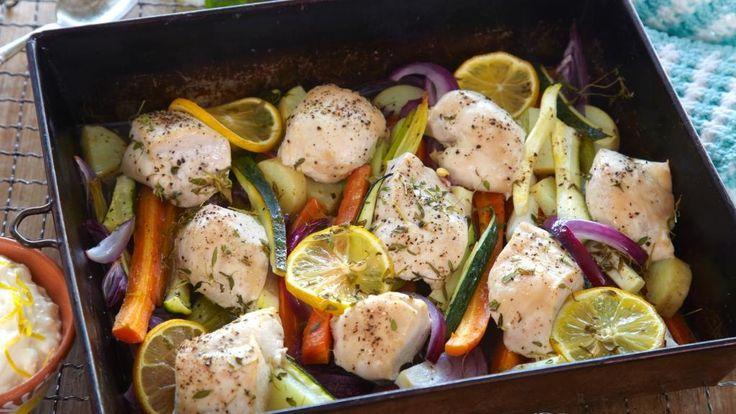 Oppskrift på Kylling med rotgrønnsaker i form