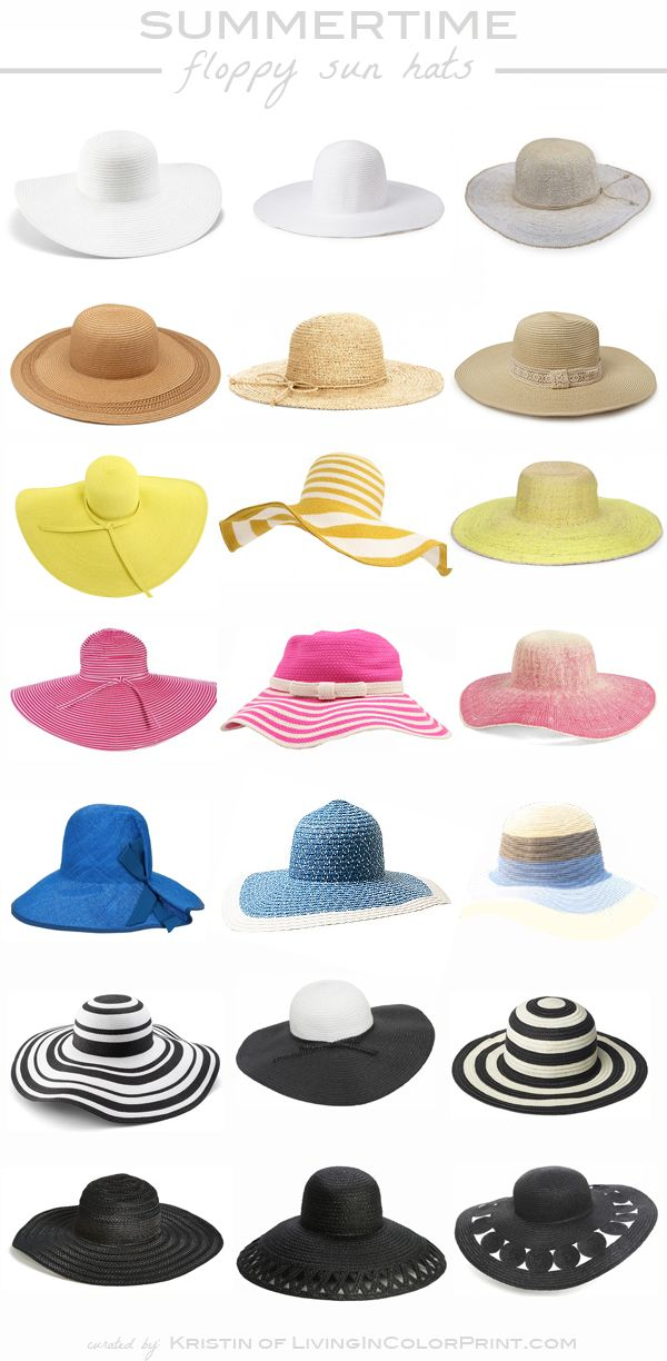 Summertime Floppy Sun Hats