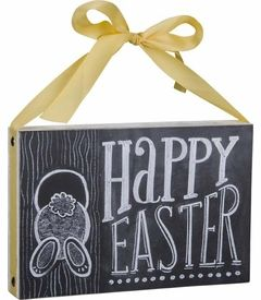 NEW! - Happy Easter Chalk Sign - Primitives by Kathy
