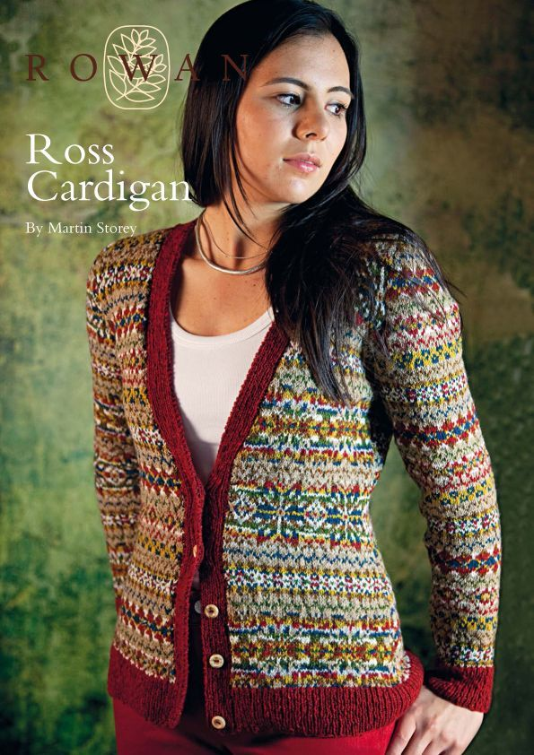 The Vintage Pattern Files: 1940's Knitting - Fair Isle Ross Cardigan