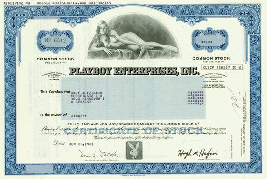 HWPH AG - Historische Wertpapiere - Playboy Enterprises, Inc.