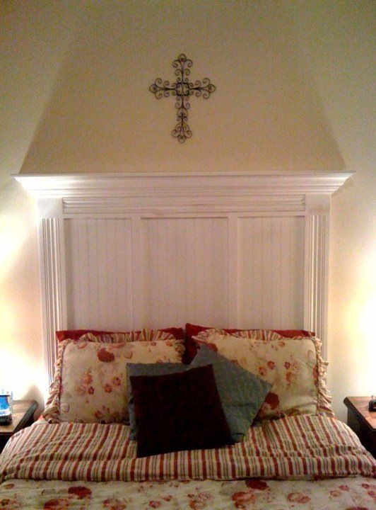 Old Door And Crown Molding Headboard Images Frompo