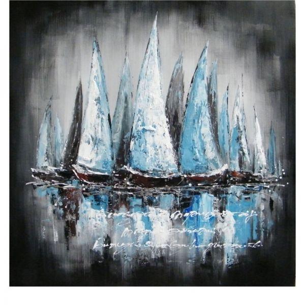 Schilderij Zeilboten 100x100