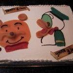 Winnie the pooh en Donald Duck taart van Bakkerij Excellence http://www.excellence.be