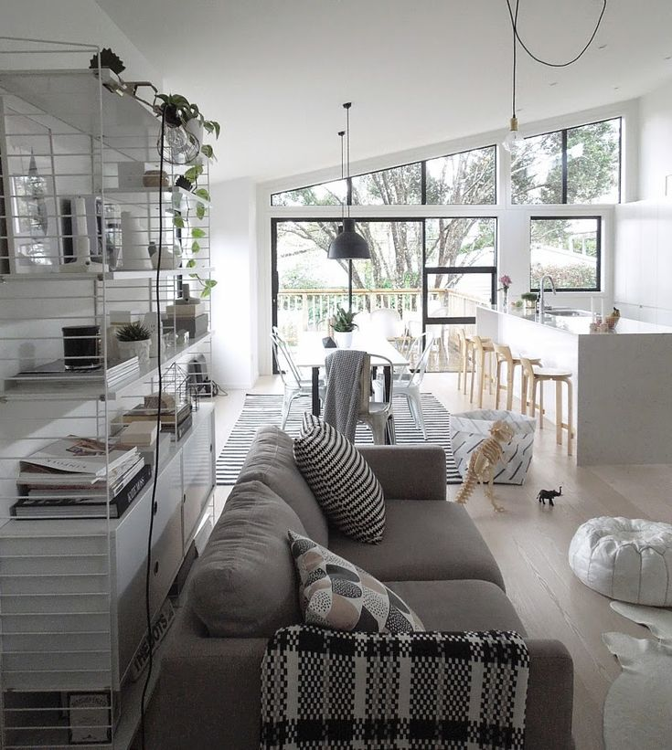 Beautiful airy Nordic style open plan space of Michelle Halford from TDC