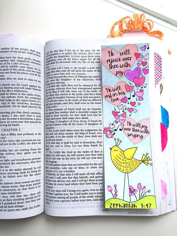 Bible Journaling Bible Verse Art Bible Verse Print by SewBitandCo