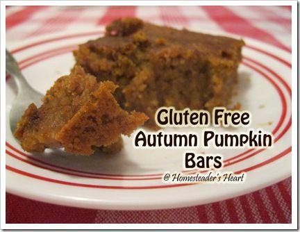 Autumn Pumpkin Bars with GF conversions.
