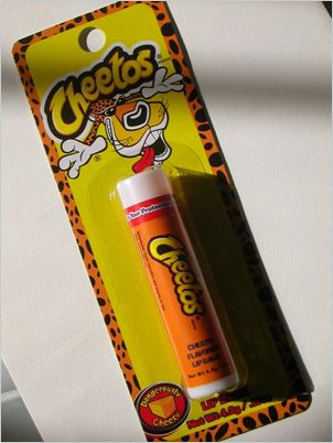 Cheetos-flavored lip balm.