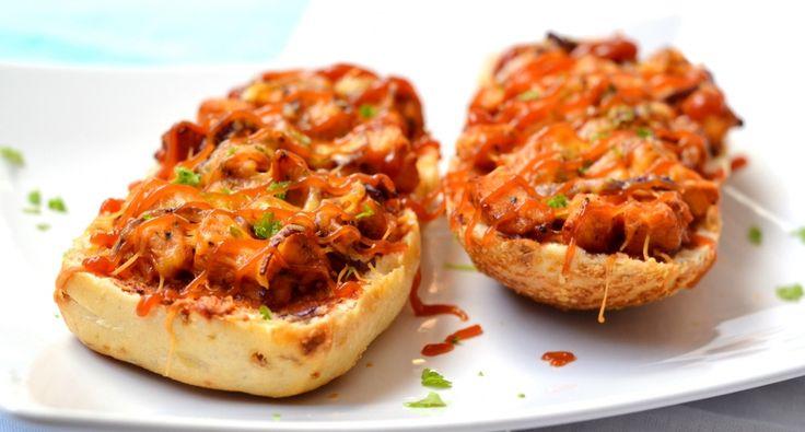 BBQ csirkés melegszendvics recept