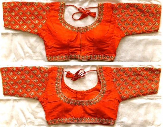 Traditional Rajasthani Embroidery padded Readymade Blouse Partywear Wedding Saree Stitched Crop Top Choli For Lehenga