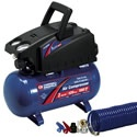 Campbell Hausfeld 2-Gallon Hot Dog Air Compressor. This is a great entry-level air compressor for the occasional user.     Light weight and portable, it will do a great job keeping your tires and sports balls inflated.