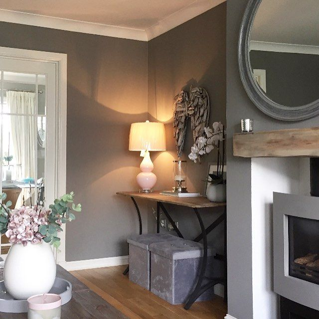 I love this corner of my living room, sharing another pic of it before the alcove unit is fitted on the other side, decided to paint these walls lighter and go for cornforth white on the unit. #interiordesign #interiors #interiorstyling #interiorinspo #livingroom #myhome #modernhome #homestyling #greyinterior #molesbreath #farrowandball #newhome #bellway #diy #renovation