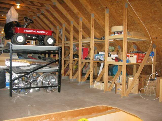 Best 25 attic storage ideas on pinterest for Garage attic storage