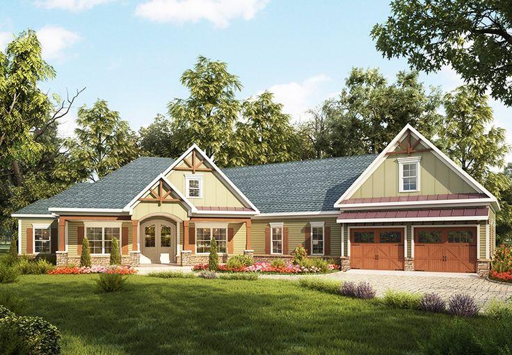 Craftsman House Plan with Angled Garage Craftsman style