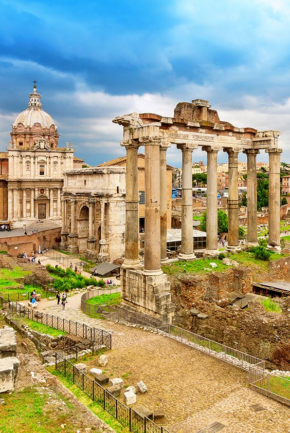 The Forum Romanum was the center of ancient Rome. Today there are not many things preserved so good, or at least not entirely. The forum is actually scribbled with temples, churches and numerous triumphal arches.