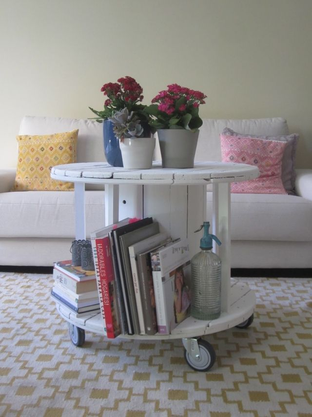Die besten 25+ Kabeltrommel tisch Ideen auf Pinterest - wohnzimmertisch mit rollen