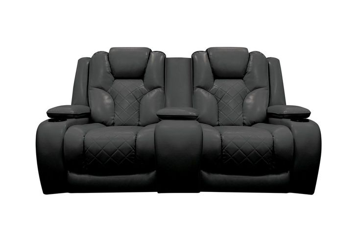 Bastille Power Reclining Loveseat with Console from Gardner-White Furniture