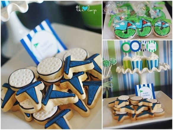 More golf cookies and treats