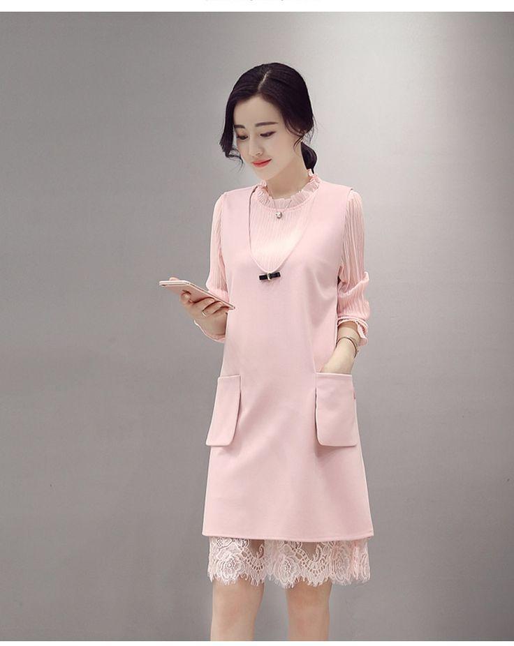 Платья с длинными рукавами и ниже колен