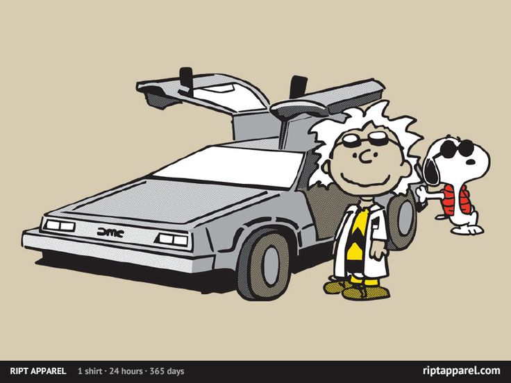 Not a big PEANUTS fan at all but I picked this up on teefury.com w/ Charlie Brown as Doc Brown and Snoopy as Marty. I thought this one really came together well.