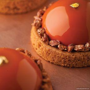 ''Amber'' - Caramel mousse, Pecan caramel, Sable Breton and caralised pecans