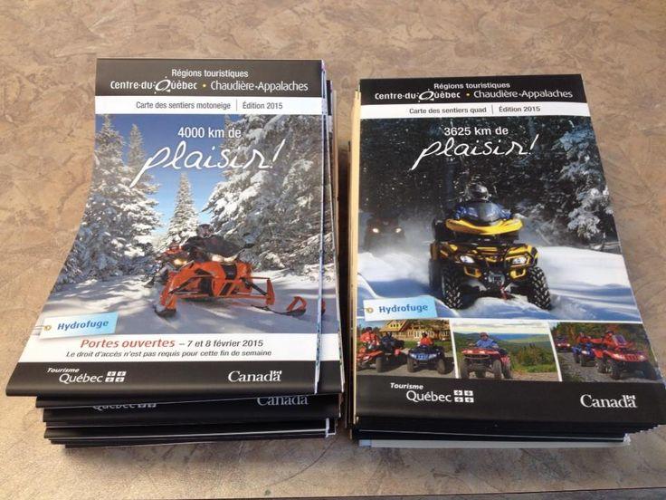 Nos cartes pour les sentiers Quad au Centre-du-Québec et en Chaudière-Appalaches et Motoneige au Centre-du-Québec et en Chaudière-Appalaches 2015!!! Vous pouvez dès maintenant venir en chercher un au bureau! #quad #motoneige #centreduquebec