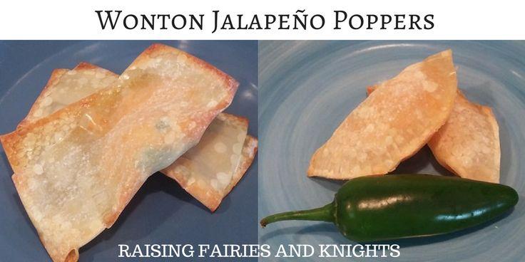 Wonton Jalapeño Poppers