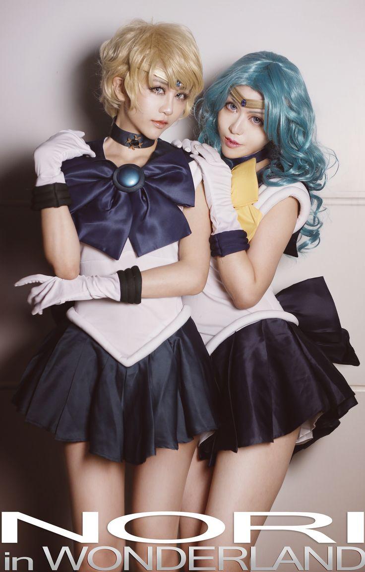 在月球城遇到偽娘 - NORI in WONDERLAND(NORI) Sailor Uranus, Sailor Neptune Cosplay Photo - Cure WorldCosplay