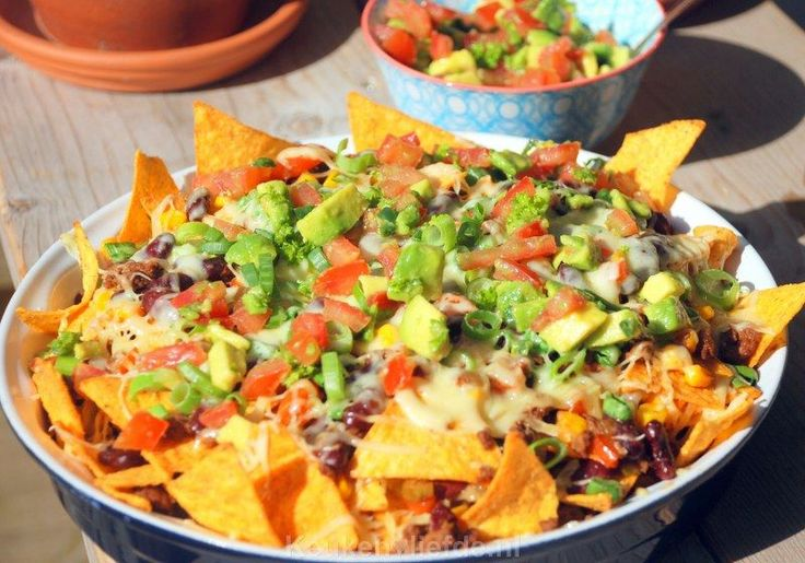 Loaded nachos - Mexicaanse tortillaschotel - Keuken♥Liefde
