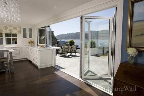 Folding Glass Doors Design Love for patio, year around use!