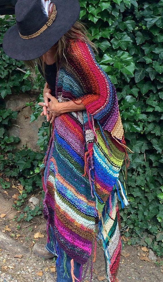 LONGTEMPS Handknit Womens Bohême Hippie Festival par poshbygosh