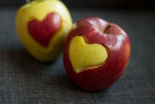 fun food kids apple pfel apfel gesund herz liebe heart. Black Bedroom Furniture Sets. Home Design Ideas
