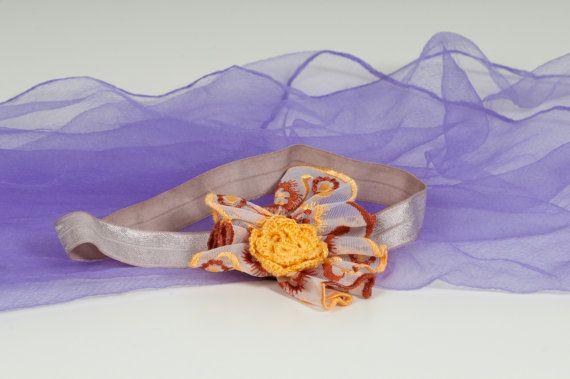 Lace headband  Crochet flower headband  Fan style lace by Chrisin, €4.90