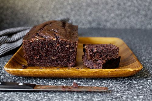 double chocolate banana bread from smitten kitchen website- making this today. yum yum i can tell :-)