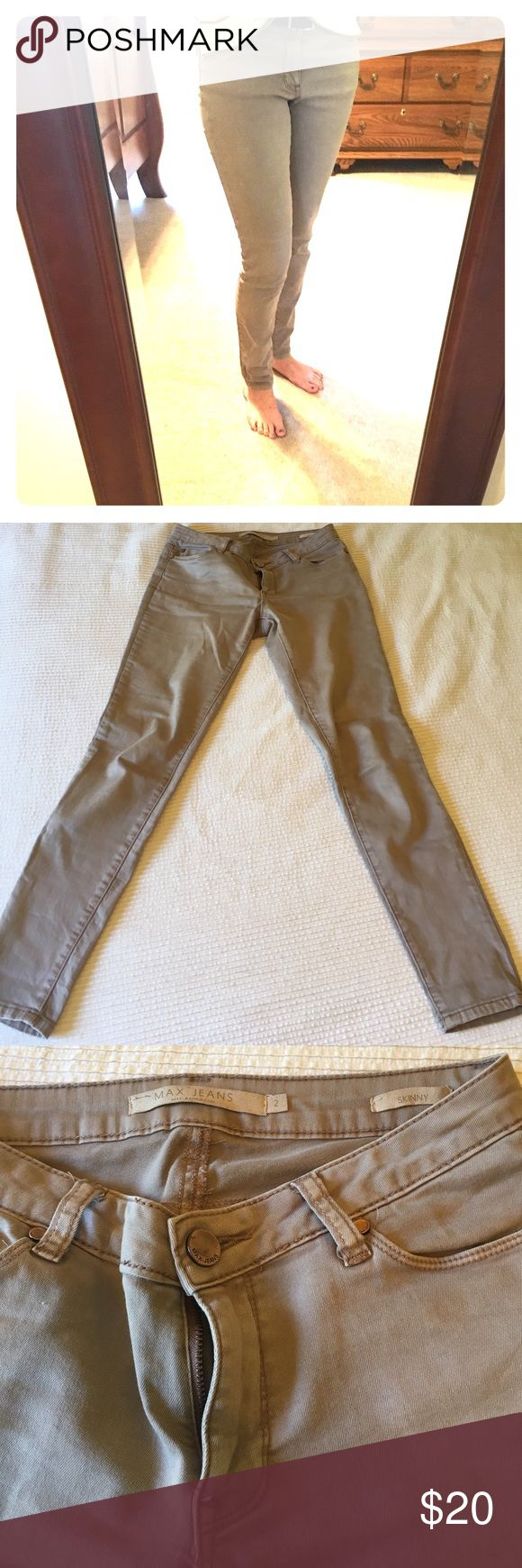 Max Jeans skinny khaki pants Worn and washed once. In like new condition. Jeans Skinny