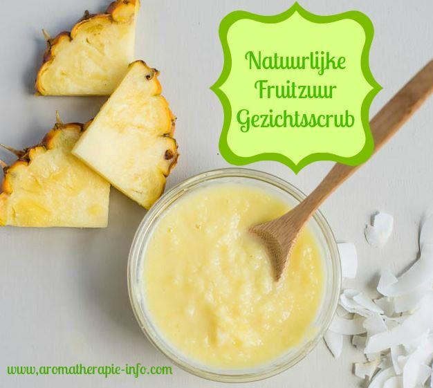 Natuurlijke fruitzuur gezichtsscrub