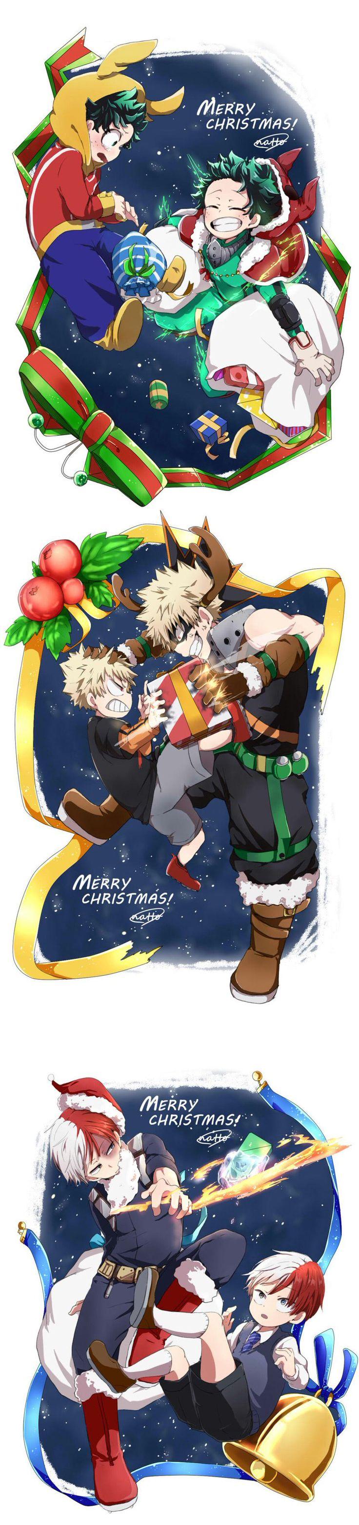Characters: Midoriya Izuku, Katsuki Bakugou, Todoroki Shouto (Merry Christmas)