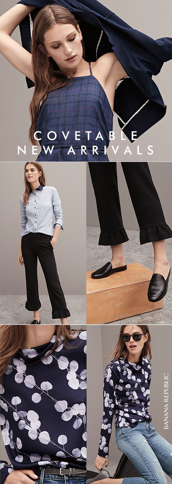 Say hello to fall with timeless classics—so good, they do all of the work for you. Fitted blazers for instant polish, black pants with feminine frill and beautiful printed tops—find your perfect outfit. Exclusively at Banana Republic. SHOP NOW