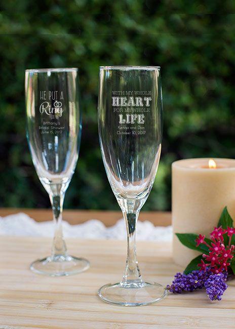 ~$2 ea. Engraved Champagne Flute Favor wedding favors