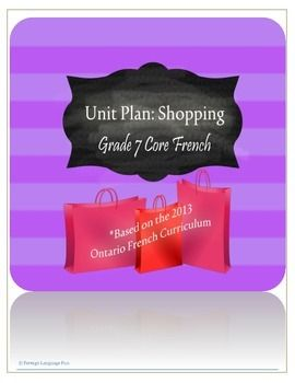 This unit plan includes:- Connections to the 2013 Ontario Core French Curriculum Standards- Learning Goal - Final Task - Sample Success Criteria - Examples of Communicative Activities that prepare students for the final task Related Products:Restaurants Unit Planhttp://www.teacherspayteachers.com/Product/Grade-7-Core-French-Unit-Plan-Restaurants-1389196Intermediate Core French Editable Long Range…